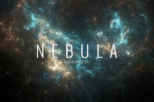 12 Nebula backgrounds 4000x4000 px