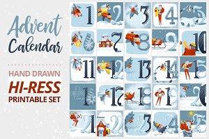 Advent Calendar Printable Set