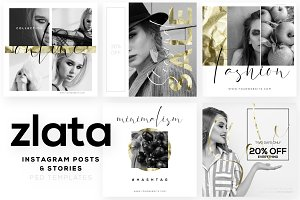 ZLATA - Instagram Templates