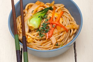 hand pulled ramen noodles and vegetables 001.jpg