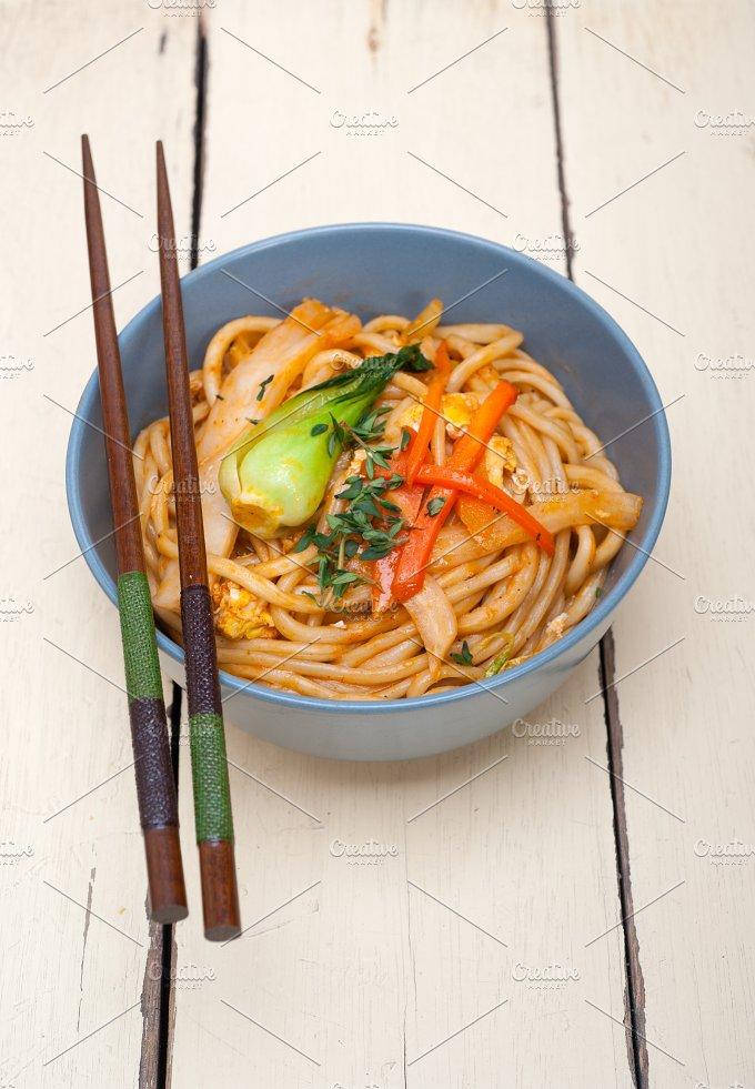 hand pulled ramen noodles and vegetables 001.jpg - Food & Drink