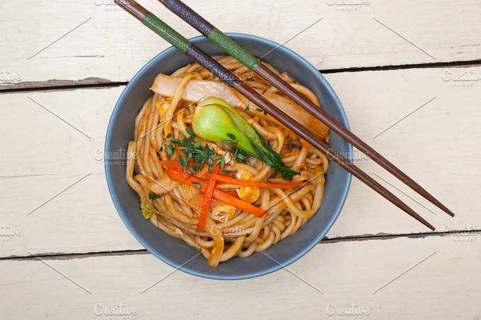 hand pulled ramen noodles and vegetables 004.jpg - Food & Drink