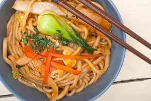 hand pulled ramen noodles and vegetables 007.jpg
