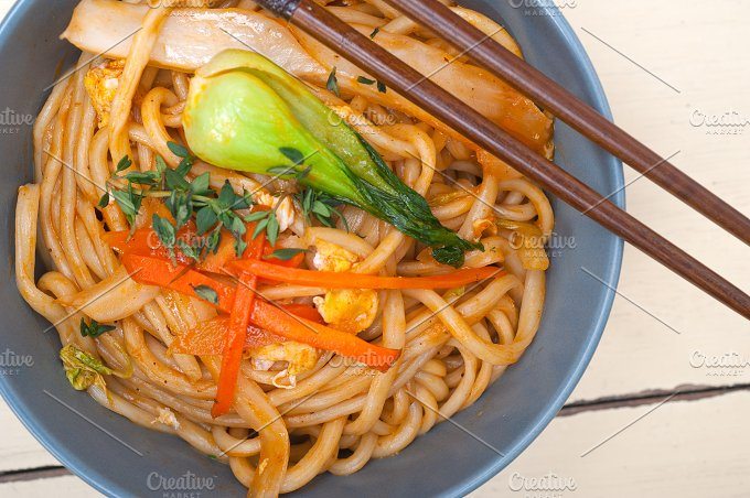 hand pulled ramen noodles and vegetables 007.jpg - Food & Drink
