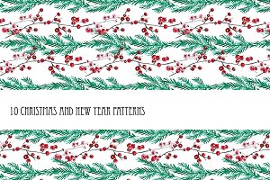 10 Christmas and New Year Patterns