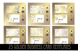 25 Golden Business Card Templates