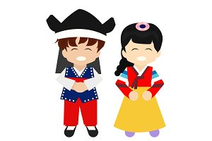happy chuseok kids new costume
