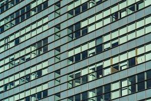 Facade of a glass building