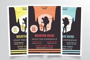 Mountain Hiking Flyer Template