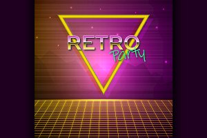 Futuristic background 80s style.