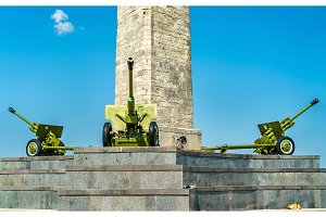 Cannons at the Obelisk of Glory in