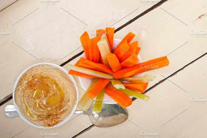 hummus dip and fresh vegetables 003.jpg - Food & Drink