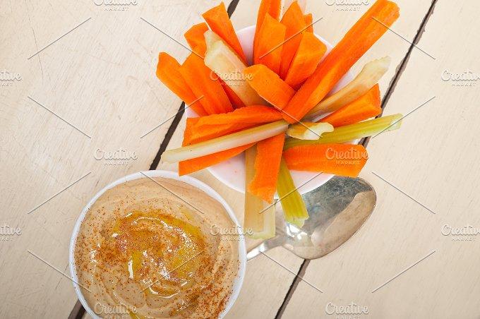 hummus dip and fresh vegetables 004.jpg - Food & Drink