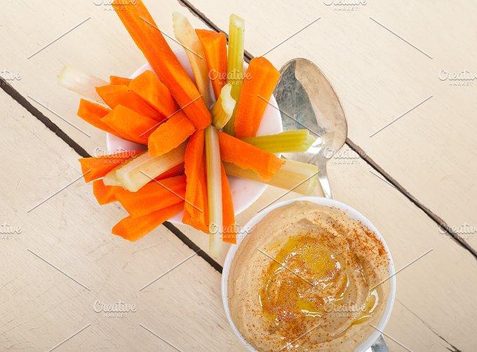 hummus dip and fresh vegetables 005.jpg - Food & Drink