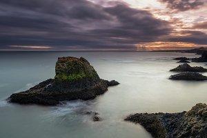 Volcanic cliffs and basalt rocks