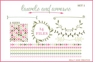 Arrows Laurels Blog Graphics Vector