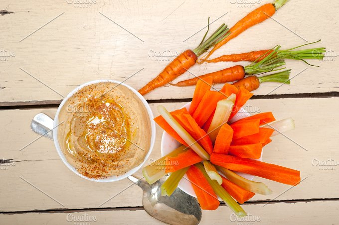 hummus dip and fresh vegetables 012.jpg - Food & Drink