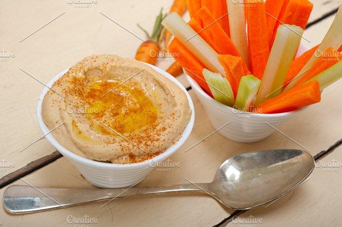 hummus dip and fresh vegetables 013.jpg - Food & Drink