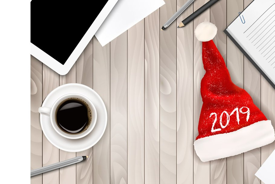 Christmas Office Background Vector Illustrations Creative Market