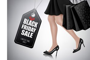 Black Friday sale background. Vector