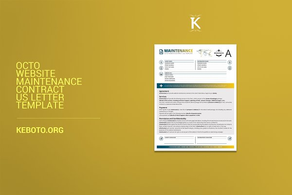 Oct Website Maintenance Contract USL