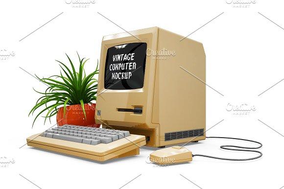 Vintage Computer Mockup in Mobile & Web Mockups - product preview 1