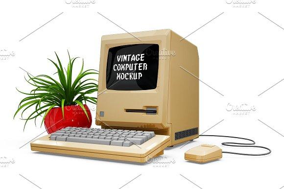 Vintage Computer Mockup in Mobile & Web Mockups - product preview 2