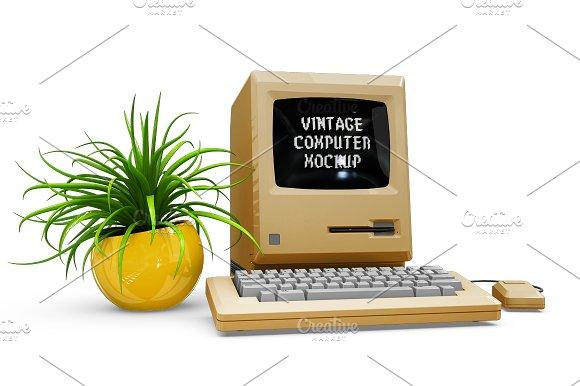 Vintage Computer Mockup in Mobile & Web Mockups - product preview 5