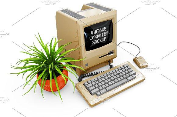 Vintage Computer Mockup in Mobile & Web Mockups - product preview 9