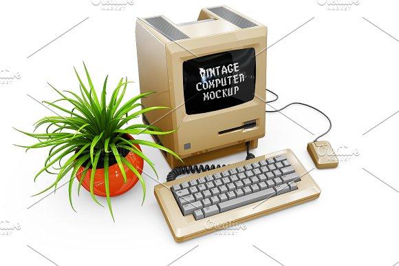 Vintage Computer Mockup in Mobile & Web Mockups - product preview 10