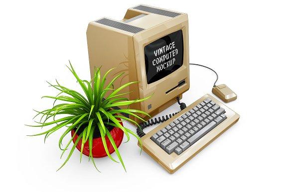 Vintage Computer Mockup in Mobile & Web Mockups - product preview 11