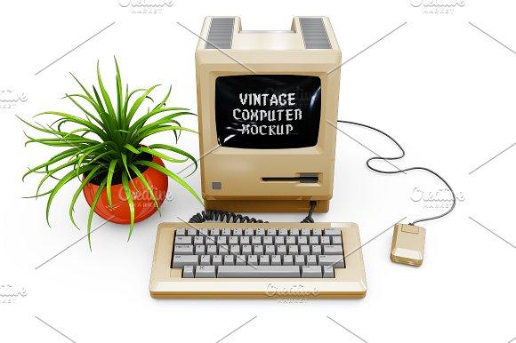Vintage Computer Mockup in Mobile & Web Mockups - product preview 12