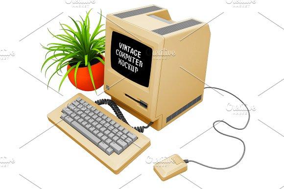 Vintage Computer Mockup in Mobile & Web Mockups - product preview 15