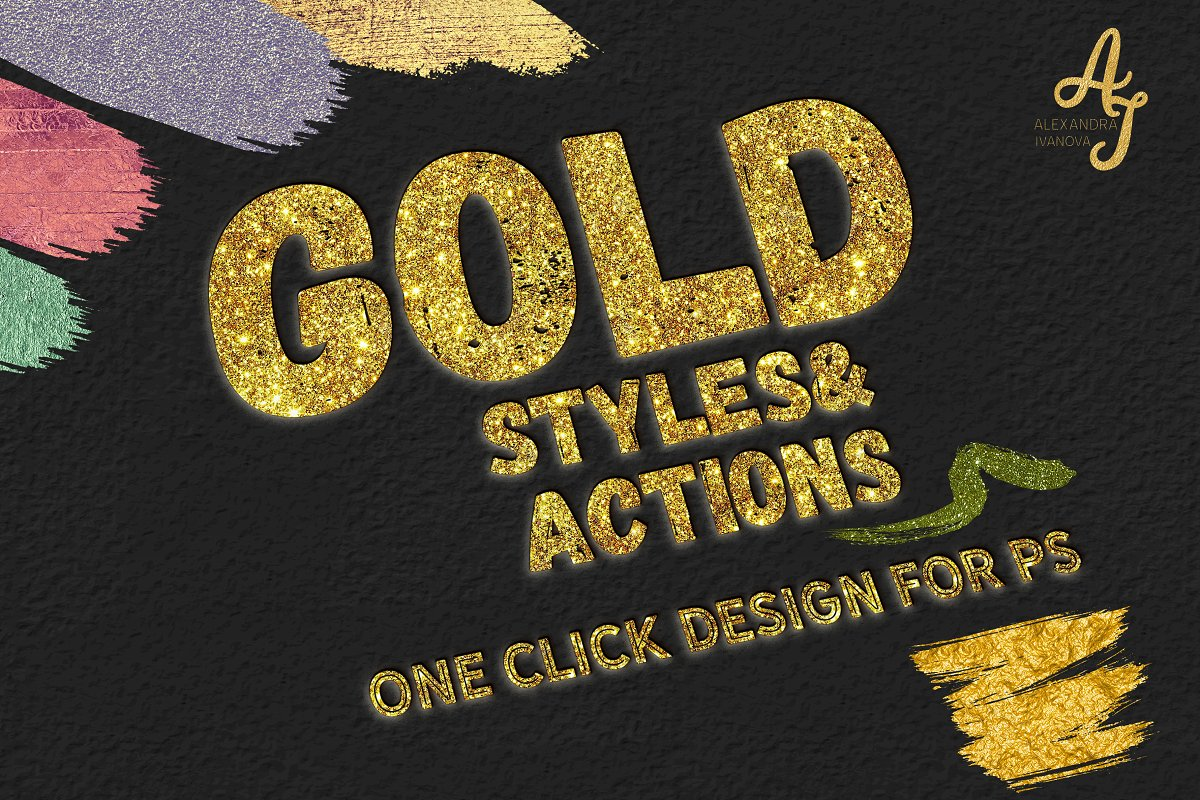 GOLD Styles & Actions for PHOTOSHOP