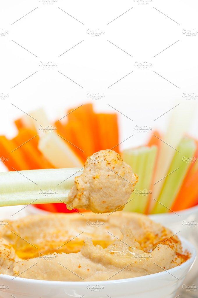 hummus dip and fresh vegetables 035.jpg - Food & Drink