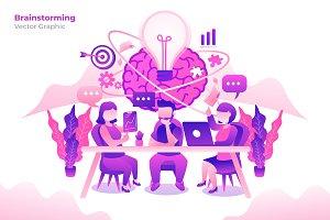 Brainstorming - Vector Illustration