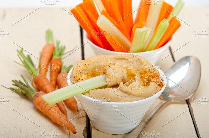 hummus dip and fresh vegetables 040.jpg - Food & Drink