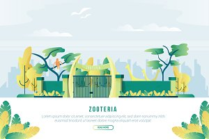 Zooteria- Vector Landscape& Building
