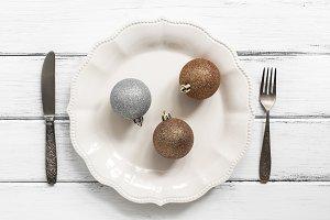 Christmas table setting. Christmas-t