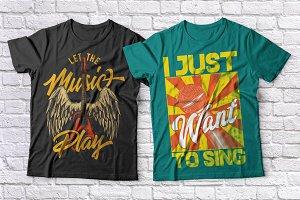 Music t-shirts set