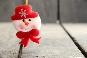 Snowman toy. Winter, Christmas and