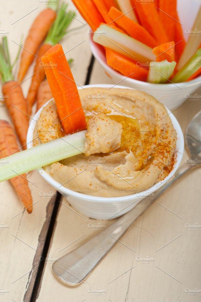 hummus dip and fresh vegetables 048.jpg - Food & Drink