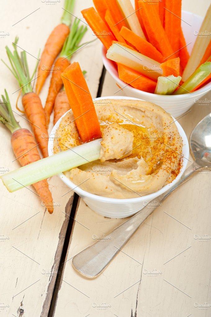 hummus dip and fresh vegetables 049.jpg - Food & Drink