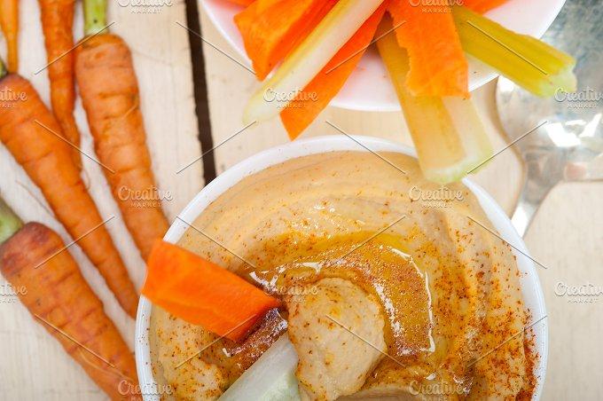 hummus dip and fresh vegetables 050.jpg - Food & Drink