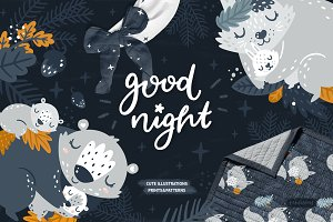 Good night Sleeping Forest Animals