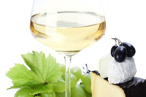 white wine and cheese