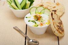 Khyar Bi Laban Arab cucumber goat yogurt salad 001.jpg