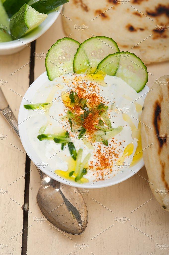 Khyar Bi Laban Arab cucumber goat yogurt salad 005.jpg - Food & Drink
