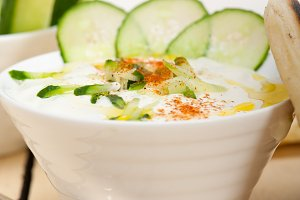Khyar Bi Laban Arab cucumber goat yogurt salad 006.jpg