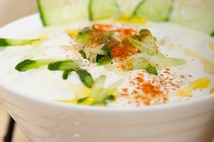 Khyar Bi Laban Arab cucumber goat yogurt salad 007.jpg